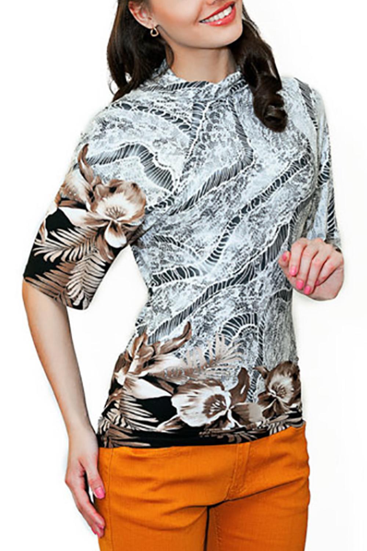 ДжемперДжемперы<br>Цветной джемпер полуприталенного силуэта с рукавами до локтя. Модель  выполнена из приятного материала. Отличный выбор для повседневного гардероба.  Параметры изделия: 42 размер: длина спинки 68см, ширина бедер 42;  54 размер: длина спинки 75см, ширина бедер 53.  Цвет: серый, черный, бежевый  Рост девушки-фотомодели 170 см<br><br>По материалу: Вискоза<br>По рисунку: С принтом,Цветные<br>По силуэту: Полуприталенные<br>По стилю: Повседневный стиль<br>Рукав: До локтя<br>По сезону: Осень,Весна<br>Размер : 42<br>Материал: Вискоза<br>Количество в наличии: 1