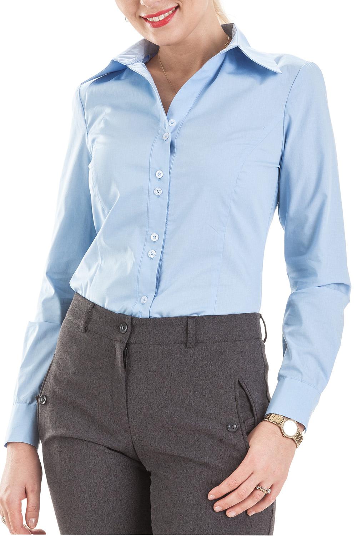 РубашкаРубашки<br>Классическая рубашка с длинным рукавом, выполнена из тончайшего индийского батиста (100% хлопок). Благодаря уникальным свойствам хлопка и отсутствию синтетических примесей в ткани изделия, рубашка обладает отличной гигроскопичностью и дышащими свойствами. Не прилипает к телу и создает оптимальный микроклимат в течение всего дня. V – образный вырез воротника зрительно удлиняет рост.  Цвет: голубой  Ростовка изделия 170 см.<br><br>Воротник: Рубашечный<br>Горловина: V- горловина<br>Застежка: С пуговицами<br>По материалу: Блузочная ткань,Хлопок<br>По рисунку: Однотонные<br>По сезону: Весна,Зима,Лето,Осень,Всесезон<br>По силуэту: Приталенные<br>По стилю: Классический стиль,Офисный стиль,Повседневный стиль<br>По элементам: С манжетами<br>Рукав: Длинный рукав<br>Размер : 46,48,58<br>Материал: Блузочная ткань<br>Количество в наличии: 4