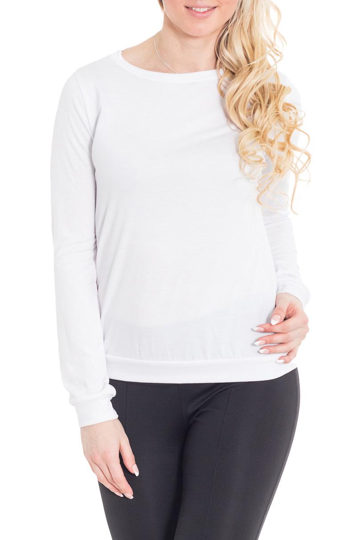 БлузкаБлузки<br>Великолепная блузка с открытой спиной. Модель выполнена из мягкой вискозы. Отличный выбор для повседневного гардероба.  Цвет: белый  Рост девушки-фотомодели 170 см.<br><br>Горловина: С- горловина<br>По материалу: Вискоза,Трикотаж<br>По рисунку: Однотонные<br>По сезону: Весна,Зима,Лето,Осень,Всесезон<br>По силуэту: Свободные<br>По стилю: Повседневный стиль<br>По элементам: С манжетами<br>Рукав: Длинный рукав<br>Размер : 42,44,46<br>Материал: Вискоза<br>Количество в наличии: 5
