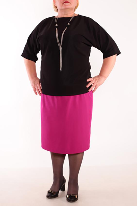 БлузкаБлузки<br>Женская блузка с круглой горловиной и рукавами до локтя. Модель выполнена из приятного трикотажа. Отличный выбор для повседневного гардероба. На спинке декоративный разрез.   Цвет: черный<br><br>Горловина: С- горловина<br>Рукав: До локтя<br>Материал: Трикотаж,Хлопок<br>Рисунок: Однотонные<br>Сезон: Весна,Всесезон,Зима,Лето,Осень<br>Силуэт: Полуприталенные<br>Элементы: С вырезом<br>Стиль: Повседневный стиль<br>Размер : 58<br>Материал: Джерси<br>Количество в наличии: 1