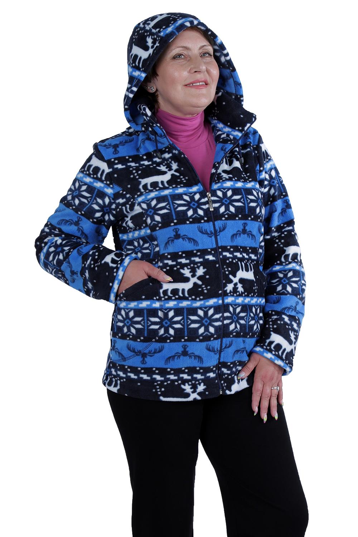 КофтаКофты<br>Мягкая, теплая и уютная женская кофта. Модель выполнена из приятного флиса. Отличный выбор для повседневного гардероба.  Цвет: синий, голубой, белый  Ростовка изделия 170 см.<br><br>Воротник: Стойка<br>Застежка: С молнией<br>По длине: Средней длины<br>По материалу: Трикотаж<br>По образу: Город<br>По рисунку: С принтом,Цветные,Этнические<br>По силуэту: Полуприталенные<br>По стилю: Повседневный стиль<br>По элементам: С капюшоном,С карманами<br>Рукав: Длинный рукав<br>По сезону: Осень,Весна<br>Размер : 56<br>Материал: Флис<br>Количество в наличии: 1