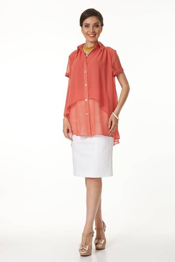 Блузка блузка женская oodji collection цвет коралловый 21412132 4b 24681 4300n размер 36 170 42 170