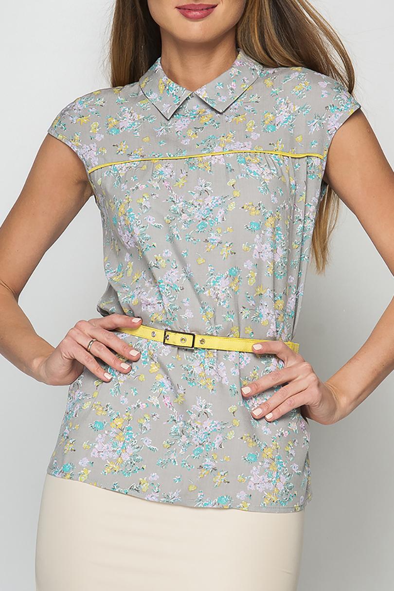 БлузкаБлузки<br>Блуза женская прямого силуэта, без рукавов, горловина изделия оформлена отложным воротничком-стойкой, по спинке застежка на пуговицу.  Блузка без пояса.  Параметры изделия:  44 размер: обхват груди - 90 см, длина изделия - 62 см;  52 размер: обхват груди - 104 см, длина изделия - 66 см.  В изделии использованы цвета: серый, голубой, желтый и др.  Рост девушки-фотомодели 175 см<br><br>По рисунку: Растительные мотивы,С принтом,Цветные,Цветочные<br>По сезону: Весна,Зима,Лето,Осень,Всесезон<br>По стилю: Повседневный стиль,Летний стиль<br>Рукав: Короткий рукав,Без рукавов<br>Воротник: Отложной<br>По материалу: Тканевые,Хлопок<br>По силуэту: Приталенные<br>Размер : 46,48,50,52,54<br>Материал: Блузочная ткань<br>Количество в наличии: 5