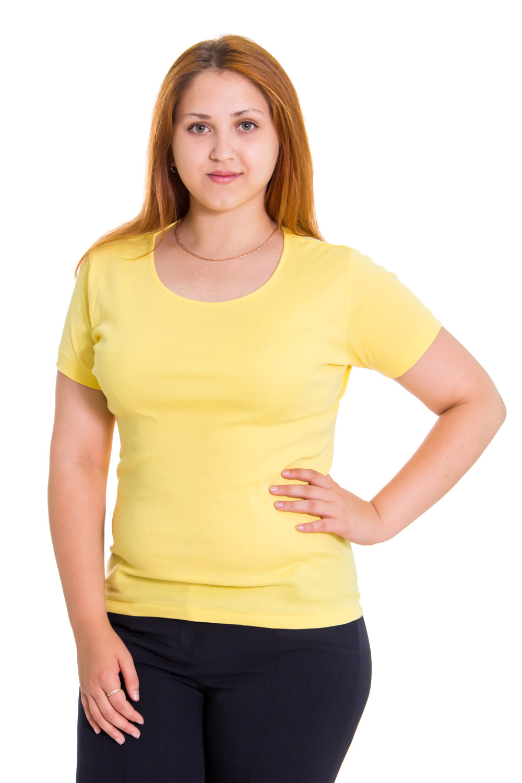 ФутболкаФутболки<br>Женская футболка с круглой горловиной и короткими рукавами. Модель выполнена из приятного материала. Отличный выбор для повседневного гардероба.  Цвет: желтый  Рост девушки-фотомодели 169 см.<br><br>По образу: Свидание,Спорт,Город<br>По стилю: Повседневный стиль,Молодежный стиль<br>По материалу: Трикотаж,Хлопок<br>По рисунку: Однотонные<br>По сезону: Всесезон,Зима,Лето,Осень,Весна<br>По силуэту: Полуприталенные<br>Рукав: Короткий рукав<br>Горловина: С- горловина<br>Размер: 50,52<br>Материал: None<br>Количество в наличии: 1