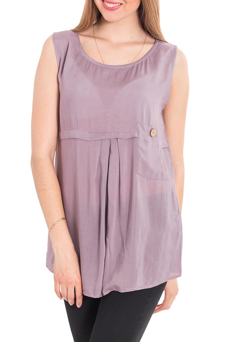 БлузкаБлузки<br>Удлиненная блузка без рукавов. Модель выполнена из хлопкового материала. Отличный выбор для повседневного гардероба.  За счет свободного кроя и эластичного материала изделие комфортно носить во время беременности  Цвет: сиреневый  Рост девушки-фотомодели 170 см<br><br>Горловина: С- горловина<br>По материалу: Хлопок<br>По рисунку: Однотонные<br>По сезону: Весна,Зима,Лето,Осень,Всесезон<br>По силуэту: Полуприталенные<br>По стилю: Повседневный стиль,Летний стиль<br>По элементам: С декором,Со складками<br>Рукав: Без рукавов<br>Размер : 42,44,46<br>Материал: Хлопок<br>Количество в наличии: 4
