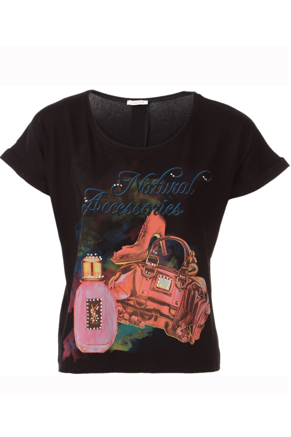ФутболкаФутболки<br>Потрясающая футболка с элегантным узором, сзади скроена длиннее чем спереди настоящая приманка для глаз, гарантирующая стильный выход Короткий рукав и округлый вырез горловины.  Цвет: черный, мультицвет  Ростовка изделия 170 см.  Парметры изделия: 40 размер - обхват груди 74-77 см., обхват талии 60-62 см. 42 размер - обхват груди 78-81 см., обхват талии 63-65 см. 44 размер - обхват груди 82-85 см., обхват талии 66-69 см. 46 размер - обхват груди 86-89 см., обхват талии 70-73 см. 48 размер - обхват груди 90-93 см., обхват талии 74-77 см. 50 размер - обхват груди 94-97 см., обхват талии 78-81 см. 52 размер - обхват груди 98-102 см., обхват талии 82-86 см. 54 размер - обхват груди 103-107 см., обхват талии 87-91 см. 56 размер - обхват груди 108-113 см., обхват талии 92-96 см. 58/60 размер - обхват груди 114-119 см., обхват талии 97-102 см. 62 размер - обхват груди 120-125 см., обхват талии 103-108 см.<br><br>Горловина: С- горловина<br>По материалу: Вискоза,Трикотаж<br>По рисунку: С принтом,Цветные<br>По сезону: Весна,Всесезон,Зима,Лето,Осень<br>По силуэту: Полуприталенные<br>По стилю: Повседневный стиль<br>По элементам: С фигурным низом<br>Рукав: Короткий рукав<br>Размер : 48,50<br>Материал: Вискоза<br>Количество в наличии: 2