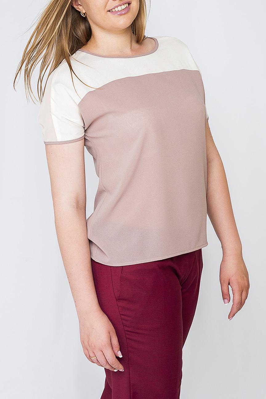 БлузкаБлузки<br>Женская блуза свободного пошива, контрастное сочетание белого цвета и бежевого смотрится интересно и привлечет внимание. Блуза идеально будет сочетаться как со штанами, так и с юбкой и подойдет как для работы, так и для праздничного мероприятия.   Параметры изделия: 44 размер: обхват бедер 99 см, длина изделия 62 см;  52 размер: обхват бедер 119 см, длина изделия 64 см.   Рост модели 170 см  Цвет: белый, бежевый.<br><br>Горловина: С- горловина<br>Рукав: Короткий рукав<br>Материал: Шифон<br>Рисунок: Цветные<br>Сезон: Весна,Всесезон,Зима,Лето,Осень<br>Силуэт: Прямые<br>Стиль: Офисный стиль,Повседневный стиль,Летний стиль<br>Размер : 40,42,44,46,50,56<br>Материал: Шифон<br>Количество в наличии: 7