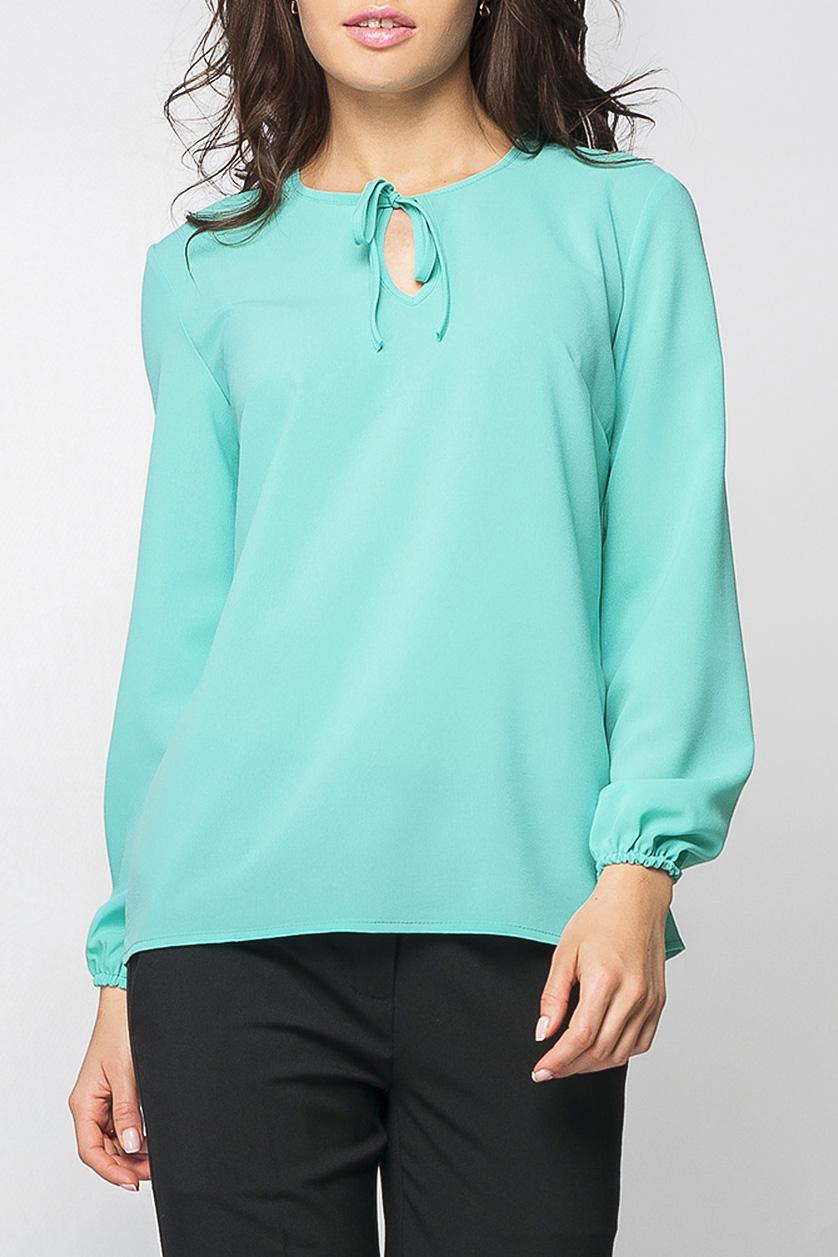 БлузкаБлузки<br>Элегантная женская блуза из шифона нежного мятного цвета, на грудке изделия каплеобразный вырез и завязочки, рукава с резиночками.   Параметры изделия:  44 размер: обхват по линии груди - 98 см, обхват по линии бедер - 98 см, длина изделия - 63 см, длина рукава - 58,5 см;  52 размер: обхват по линии груди - 114 см, обхват по линии бедер - 114 см, длина изделия - 66,5 см, длина рукава - 58,5 см.   Рост модели 170 см  Цвет: бирюзовый.<br><br>Горловина: С- горловина<br>По материалу: Шифон<br>По рисунку: Однотонные<br>По сезону: Весна,Зима,Лето,Осень,Всесезон<br>По силуэту: Свободные<br>По стилю: Классический стиль,Кэжуал,Офисный стиль,Повседневный стиль<br>По элементам: С декором<br>Рукав: Длинный рукав<br>Размер : 42<br>Материал: Шифон<br>Количество в наличии: 1