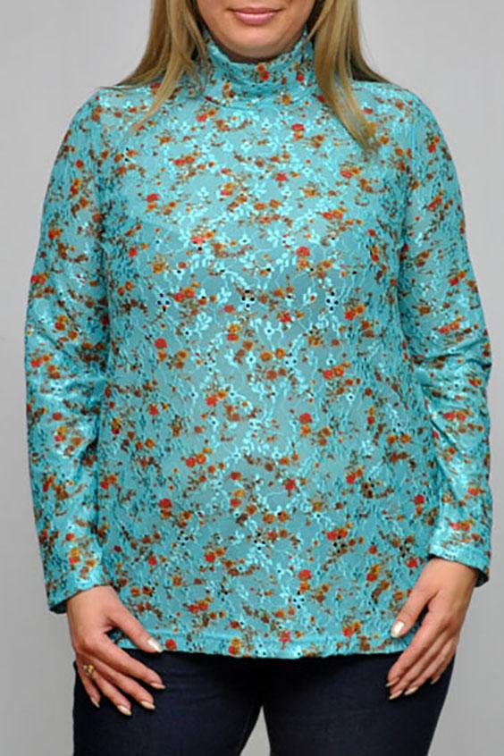 ВодолазкаВодолазки<br>Цветная женская водолазка с длинными рукавами. Модель выполнена из приятного трикотажа. Отличный выбор для повседневного гардероба.  Цвет: голубой, оранжевый, бежевый  Рост девушки-фотомодели 173 см<br><br>По образу: Город,Свидание<br>По стилю: Повседневный стиль<br>По материалу: Трикотаж<br>По рисунку: С принтом,Цветные,Цветочные,Растительные мотивы<br>По сезону: Осень,Весна<br>По силуэту: Приталенные<br>Воротник: Стойка<br>Рукав: Длинный рукав<br>Размер: 52-54,56-58,60-62,64-66,68-70<br>Материал: 60% вискоза 30% полиэстер 10% эластан<br>Количество в наличии: 6