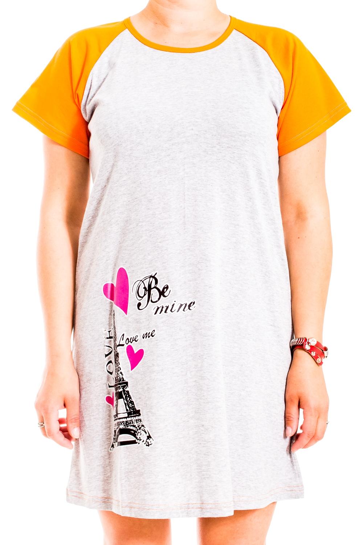 ТуникаТуники<br>Яркая хлопковая туника. Домашняя одежда, прежде всего, должна быть удобной, практичной и красивой. В нашей домашней одежде Вы будете чувствовать себя комфортно, особенно, по вечерам после трудового дня.  В изделии использованы цвета: серый, оранжевый и др.  Ростовка изделия 170 см.<br><br>Горловина: С- горловина<br>По рисунку: Цветные,С принтом<br>По сезону: Весна,Зима,Лето,Осень,Всесезон<br>По силуэту: Полуприталенные<br>Рукав: Короткий рукав<br>По материалу: Трикотаж,Хлопок<br>Размер : 46,52<br>Материал: Трикотаж<br>Количество в наличии: 2