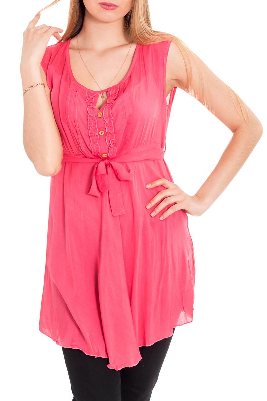 БлузкаБлузки<br>Удлиненная блузка без рукавов. Модель выполнена из хлопкового материала. Отличный выбор для повседневного гардероба.  За счет свободного кроя и эластичного материала изделие комфортно носить во время беременности  Цвет: коралловый  Рост девушки-фотомодели 170 см<br><br>Горловина: С- горловина<br>По материалу: Хлопок<br>По рисунку: Однотонные<br>По сезону: Весна,Зима,Лето,Осень,Всесезон<br>По силуэту: Полуприталенные<br>По стилю: Повседневный стиль,Летний стиль<br>По элементам: С декором,Со складками<br>Рукав: Без рукавов<br>Размер : 42,44,48,50<br>Материал: Хлопок<br>Количество в наличии: 7
