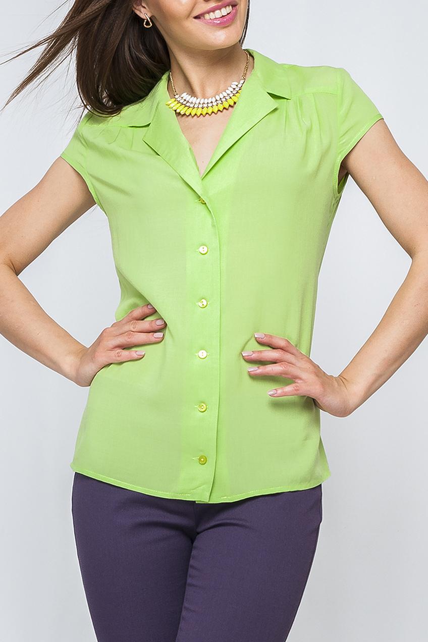 БлузкаБлузки<br>Элегантная женская блуза, выполненая из хлопка. Нежно-зеленый цвет блузы добавляет классической модели нотку свежести и смотрится более изящно. Подойдет как для повседневного, так и офисного стиля.  Параметры изделия:  44 размер: обхват по линии груди - 100 см, обхват по линии бедер - 103 см, длина по спинке - 63 см, длина рукава - 9,5 см; 52 размер: обхват по линии груди - 116 см, обхват по линии бедер - 119 см, длина по спинке - 65 см, длина рукава - 9,5 см  Цвет: салатовый  Рост девушки-фотомодели 170 см<br><br>Воротник: Отложной,Шалька<br>Горловина: V- горловина<br>Застежка: С пуговицами<br>По материалу: Хлопок<br>По рисунку: Однотонные<br>По сезону: Весна,Зима,Лето,Осень,Всесезон<br>По силуэту: Приталенные<br>По стилю: Повседневный стиль<br>Рукав: Короткий рукав<br>Размер : 42,44,46,50,56,60<br>Материал: Хлопок<br>Количество в наличии: 7