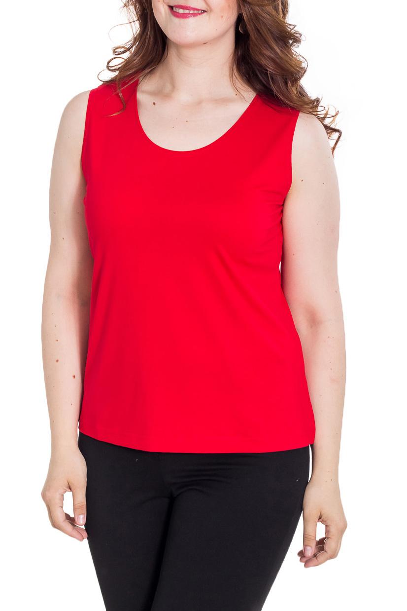 БлузкаБлузки<br>Однотонная блузка без рукавов полуприталенного силуэта. Модель выполнена из мягкой вискозы. Отличный выбор для повседневного гардероба.  Цвет: красный  Рост девушки-фотомодели 170 см.<br><br>По материалу: Вискоза<br>По образу: Город<br>По рисунку: Однотонные<br>По сезону: Весна,Зима,Лето,Осень,Всесезон<br>По силуэту: Полуприталенные<br>По стилю: Повседневный стиль<br>Горловина: С- горловина<br>Рукав: Без рукавов<br>Размер : 48,52<br>Материал: Вискоза<br>Количество в наличии: 2