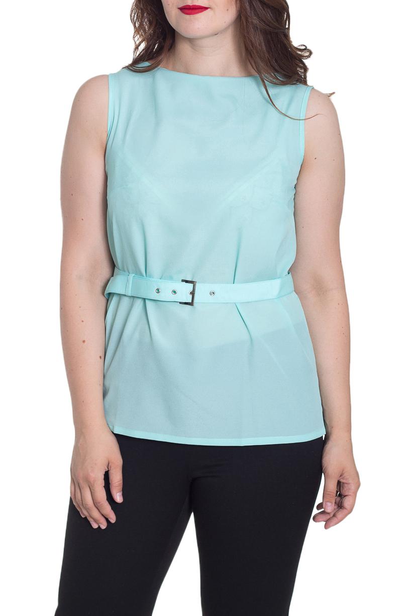 БлузкаБлузки<br>Красивая блузка без рукавов. Модель выполнена из приятного материала. Отличный выбор для повседневного и делового гардероба. Блузка без пояса.  Параметры изделия:  44 размер: обхват по линии груди - 96 см, обхват по линии бедер - 98 см, длина по спинке - 64,5 см;  52 размер: обхват по линии груди - 112 см, обхват по линии бедер - 114 см, длина по спинке - 64,5 см.  Цвет: голубой  Рост девушки-фотомодели 180 см<br><br>Горловина: С- горловина<br>По материалу: Шифон<br>По рисунку: Однотонные<br>По сезону: Весна,Зима,Лето,Осень,Всесезон<br>По силуэту: Полуприталенные<br>По стилю: Офисный стиль,Повседневный стиль,Летний стиль<br>Рукав: Без рукавов<br>Размер : 50,52,54,56<br>Материал: Шифон<br>Количество в наличии: 4