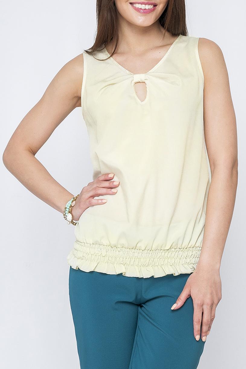 БлузкаБлузки<br>Элегантная женская блузка, выполненая из приятного материала. Подойдет как для повседневного, так и романтического стиля.  Параметры изделия:  44 размер: обхват по линии груди - 94см, длина по спинке - 62см;  48 размер: обхват по линии груди - 100см, длина по спинке - 63см.  Цвет: светло-желтый  Рост девушки-фотомодели 170 см<br><br>Горловина: С- горловина<br>По рисунку: Однотонные<br>По сезону: Весна,Зима,Лето,Осень,Всесезон<br>По силуэту: Полуприталенные<br>По стилю: Повседневный стиль<br>Рукав: Без рукавов<br>По материалу: Тканевые<br>Размер : 42,44,46,50,54<br>Материал: Блузочная ткань<br>Количество в наличии: 5