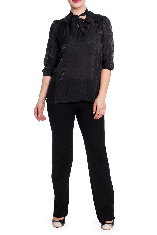 БлузкаБлузки<br>Однотонная блузка прямого силуэта. Модель выполнена из приятного материала. Отличный выбор для любого случая.  Цвет: черный  Рост девушки-фотомодели 180 см.<br><br>По материалу: Блузочная ткань,Вискоза<br>По образу: Город,Свидание<br>По рисунку: Однотонные<br>По сезону: Весна,Зима,Лето,Осень,Всесезон<br>По силуэту: Прямые<br>По стилю: Нарядный стиль,Повседневный стиль<br>По элементам: С манжетами<br>Рукав: Рукав три четверти<br>Размер : 44,46,48,50,52<br>Материал: Блузочная ткань<br>Количество в наличии: 10