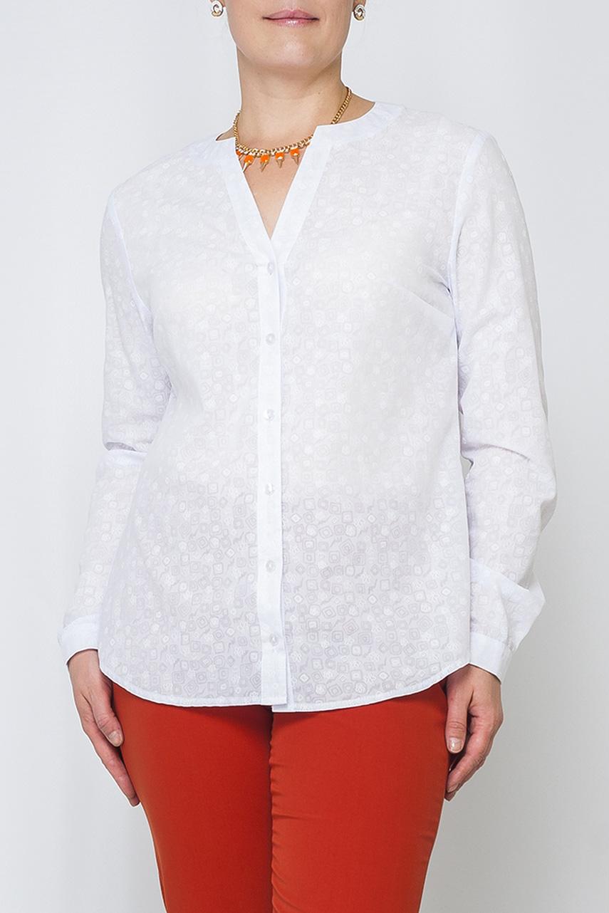 БлузкаБлузки<br>Легкая ткань, приятная для тела, свободный пошив блузы, полуприлегающего силуэта придает элегантность, спокойная расцветка модели идеально подойдет для работы и для каких-либо мероприятий.  Параметры размеров: 44 размер: длина изделия по спинке - 67см, полуобхват по линии груди - 51см, длина рукава - 62см;  54 размер: длина изделия по спинке - 71см, полуобхват по линии груди - 61см, длина рукава - 63см.  Цвет: белый  Рост девушки-фотомодели 170 см<br><br>Горловина: V- горловина<br>Застежка: С пуговицами<br>Рукав: Длинный рукав<br>Материал: Хлопок<br>Рисунок: Однотонные<br>Сезон: Весна,Всесезон,Зима,Лето,Осень<br>Силуэт: Прямые<br>Стиль: Офисный стиль,Повседневный стиль<br>Элементы: С манжетами<br>Размер : 42,44,46,48<br>Материал: Хлопок<br>Количество в наличии: 7