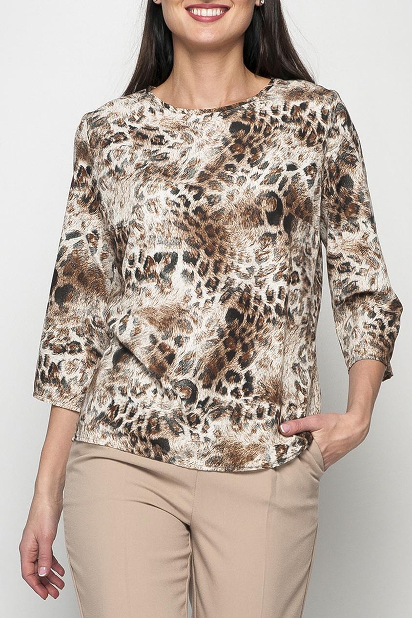 БлузкаБлузки<br>Женская блуза, модная расцветка которой добавит изюминку в ваш образ и позволит оставить о себе яркое впечатление. Лаконичная модель блузы позволяет сочетать её как с юбками, так и с брюками.   Параметры размеров: 44 размер: длина по спинке - 62 см, обхват груди - 98 см, обхват бедер - 100 см, длина рукава - 46 см;  52 размер: длина по спинке - 65 см, обхват груди - 114 см, обхват бедер - 116 см, длина рукава - 47 см  Цвет: бежевый, коричневый  Рост девушки-фотомодели 170 см<br><br>Горловина: С- горловина<br>По материалу: Вискоза,Тканевые<br>По рисунку: Животные мотивы,Леопард,С принтом,Цветные<br>По сезону: Весна,Зима,Лето,Осень,Всесезон<br>По силуэту: Прямые<br>По стилю: Повседневный стиль<br>Рукав: Рукав три четверти<br>Размер : 42,44,46,50,52,54,56,58,60<br>Материал: Блузочная ткань<br>Количество в наличии: 13