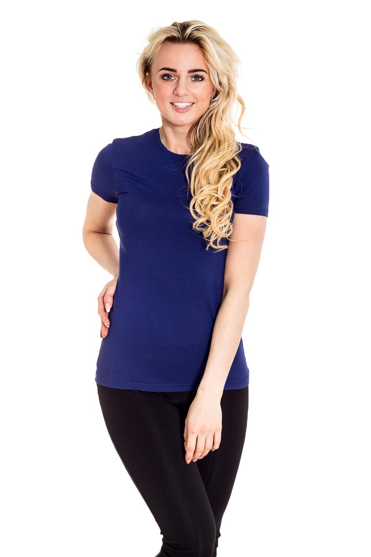 ФутболкаФутболки<br>Однотонная футболка с круглой горловиной и короткими рукавами. Модель выполнена из мягкой вискозы. Отличный выбор для базового гардероба.  Цвет: синий  Рост девушки-фотомодели 170 см.<br><br>Горловина: С- горловина<br>По материалу: Трикотаж<br>По образу: Город,Спорт<br>По рисунку: Однотонные<br>По сезону: Весна,Зима,Лето,Осень,Всесезон<br>По силуэту: Приталенные<br>По стилю: Повседневный стиль,Спортивный стиль<br>По форме: Классические<br>Рукав: Короткий рукав<br>Размер : 44<br>Материал: Вискоза<br>Количество в наличии: 1