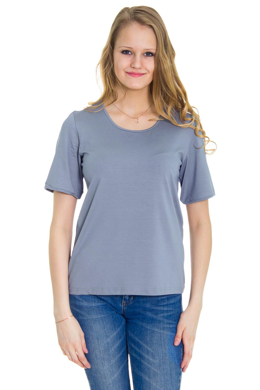 ФутболкаФутболки<br>Женская футболка с круглой горловиной и короткими рукавами. Модель выполнена из мягкой вискозы. Отличный выбор для повседневного гардероба.  Цвет: серый  Рост девушки-фотомодели 176 см<br><br>Горловина: С- горловина<br>По образу: Город,Свидание<br>По рисунку: Однотонные<br>По сезону: Весна,Осень,Всесезон<br>По силуэту: Полуприталенные<br>Рукав: Короткий рукав<br>По материалу: Хлопок<br>По стилю: Молодежный стиль,Повседневный стиль<br>Размер : 48,50,52<br>Материал: Хлопок<br>Количество в наличии: 1