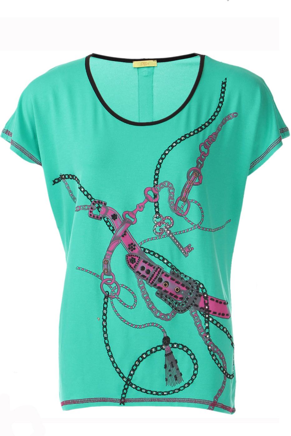 ФутболкаФутболки<br>Оригинальная футболка украшена модным принтом. Отлично смотрится в комбинации с любыми узкими брюками или юбками Короткий рукав и округлый вырез горловины.  Цвет: бирюзовый, розовый, серый  Ростовка изделия 170 см.  Парметры изделия: 40 размер - обхват груди 74-77 см., обхват талии 60-62 см. 42 размер - обхват груди 78-81 см., обхват талии 63-65 см. 44 размер - обхват груди 82-85 см., обхват талии 66-69 см. 46 размер - обхват груди 86-89 см., обхват талии 70-73 см. 48 размер - обхват груди 90-93 см., обхват талии 74-77 см. 50 размер - обхват груди 94-97 см., обхват талии 78-81 см. 52 размер - обхват груди 98-102 см., обхват талии 82-86 см. 54 размер - обхват груди 103-107 см., обхват талии 87-91 см. 56 размер - обхват груди 108-113 см., обхват талии 92-96 см. 58/60 размер - обхват груди 114-119 см., обхват талии 97-102 см. 62 размер - обхват груди 120-125 см., обхват талии 103-108 см.<br><br>Горловина: С- горловина<br>По материалу: Вискоза,Трикотаж<br>По рисунку: С принтом,Цветные<br>По сезону: Весна,Всесезон,Зима,Лето,Осень<br>По силуэту: Полуприталенные<br>По стилю: Повседневный стиль,Летний стиль<br>По элементам: С молнией,Отделка строчкой<br>Рукав: Короткий рукав<br>Размер : 48<br>Материал: Вискоза<br>Количество в наличии: 1