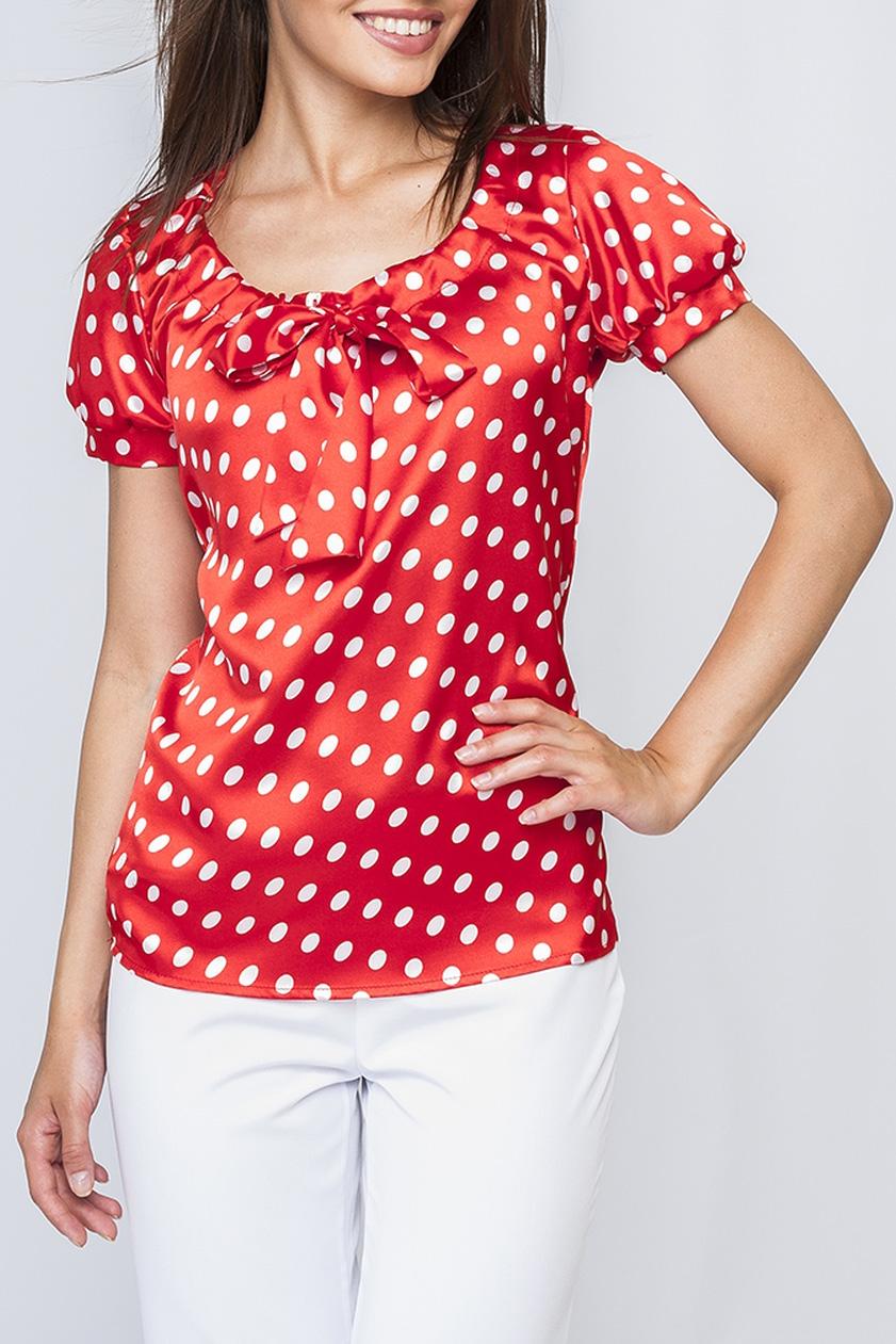 БлузкаБлузки<br>Модная женская блуза из атласа. Яркий цвет модели и контрастный принт горох добавляет Вашему образу особый шарм. Идеально будет сочетаться с однотонными брюками и юбками. Отличный вариант как для офиса, так и для встречи с друзьями или свидания.  Параметры размеров: 44 размер: обхват по линии груди - 92 см, обхват по линии бедер - 94 см, длина рукава - 20 см, длина изделия по спинке - 65 см;  52 размер: обхват по линии груди - 112см, обхват по линии бедер - 114 см, длина рукава - 20 см, длина изделия по спинке - 69 см.  Цвет: красный, белый  Рост девушки-фотомодели 170 см<br><br>Горловина: С- горловина<br>По материалу: Атлас<br>По рисунку: В горошек,С принтом,Цветные<br>По сезону: Весна,Зима,Лето,Осень,Всесезон<br>По силуэту: Полуприталенные<br>По стилю: Повседневный стиль,Летний стиль,Нарядный стиль<br>По элементам: С манжетами<br>Рукав: Короткий рукав<br>Размер : 42,48,50,52<br>Материал: Атлас<br>Количество в наличии: 5