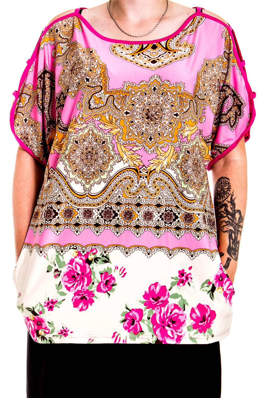 ТуникаТуники<br>Домашняя туника с короткими рукавами. Домашняя одежда, прежде всего, должна быть удобной, практичной и красивой. В тунике Вы будете чувствовать себя комфортно, особенно, по вечерам после трудового дня.  В изделии использованы цвета: розовый, оранжевый и др.  Ростовка изделия 170 см.<br><br>Горловина: С- горловина<br>По длине: Удлиненные<br>По рисунку: Цветные,Этнические,С принтом<br>По сезону: Весна,Зима,Лето,Осень,Всесезон<br>По силуэту: Полуприталенные<br>Рукав: Короткий рукав<br>По материалу: Хлопок<br>Размер : 50-52<br>Материал: Хлопок<br>Количество в наличии: 1