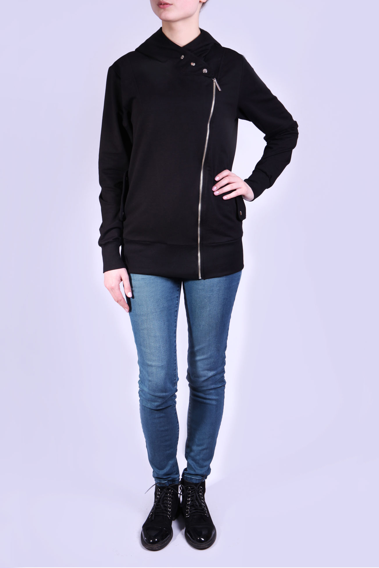 Толстовка блузка женская oodji цвет коричневый черный 21404016 17145 3729a размер 42 48 164