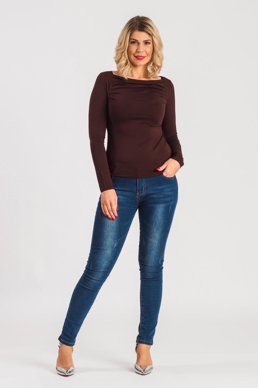 Блузка блузка женская oodji цвет коричневый черный 21404016 17145 3729a размер 38 44 170
