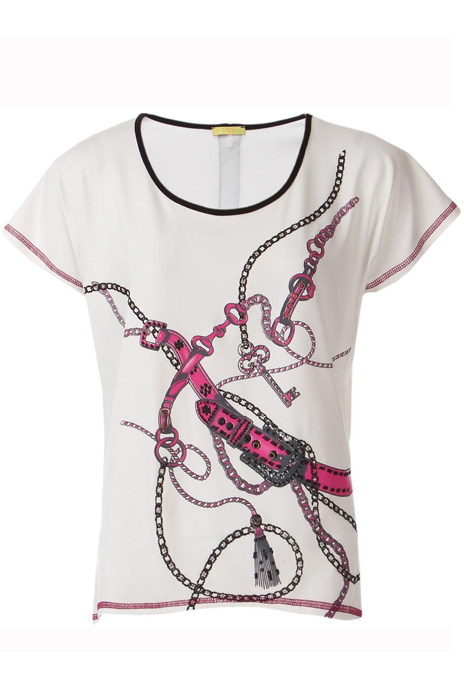 ФутболкаФутболки<br>Оригинальная футболка украшена модным принтом. Отлично смотрится в комбинации с любыми узкими брюками или юбками Короткий рукав и округлый вырез горловины.  Цвет: белый, розовый, серый  Ростовка изделия 170 см.  Парметры изделия: 40 размер - обхват груди 74-77 см., обхват талии 60-62 см. 42 размер - обхват груди 78-81 см., обхват талии 63-65 см. 44 размер - обхват груди 82-85 см., обхват талии 66-69 см. 46 размер - обхват груди 86-89 см., обхват талии 70-73 см. 48 размер - обхват груди 90-93 см., обхват талии 74-77 см. 50 размер - обхват груди 94-97 см., обхват талии 78-81 см. 52 размер - обхват груди 98-102 см., обхват талии 82-86 см. 54 размер - обхват груди 103-107 см., обхват талии 87-91 см. 56 размер - обхват груди 108-113 см., обхват талии 92-96 см. 58/60 размер - обхват груди 114-119 см., обхват талии 97-102 см. 62 размер - обхват груди 120-125 см., обхват талии 103-108 см.<br><br>Горловина: С- горловина<br>По материалу: Вискоза,Трикотаж<br>По рисунку: С принтом,Цветные<br>По сезону: Весна,Всесезон,Зима,Лето,Осень<br>По силуэту: Полуприталенные<br>По стилю: Повседневный стиль,Летний стиль<br>По элементам: С молнией<br>Рукав: Короткий рукав<br>Размер : 48,50<br>Материал: Вискоза<br>Количество в наличии: 2