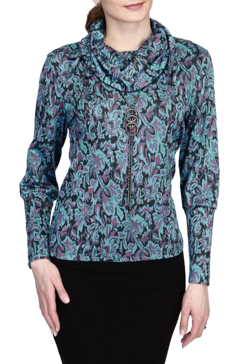 БлузкаБлузки<br>Вариант для любительниц фантазийных расцветок и интересных силуэтных решений: блуза из приятного трикотажа с объемным воротником и длинными рукавами.  Цвет: голубой, розовый  Ростовка изделия 170 см.<br><br>Воротник: Хомут<br>По материалу: Трикотаж<br>По рисунку: С принтом,Цветные,Этнические<br>По сезону: Весна,Зима,Лето,Осень,Всесезон<br>По силуэту: Полуприталенные<br>По стилю: Повседневный стиль<br>Рукав: Длинный рукав<br>Размер : 46,56<br>Материал: Трикотаж<br>Количество в наличии: 2