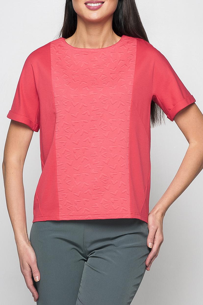 ДжемперДжемперы<br>Свободный джемпер, из комбинированной ткани, застежка на спинке, вставки по центру и на спинке с фигурами добавят изюминку в ваш образ. Короткий рукав, оформленный манжетами добавляет модели легкости.   Параметры изделия:  44 размер: обхват груди - 98 см, длина рукава - 23 см, длина изделия - 57 см;  52 размер: обхват груди - 118 см, длина рукава - 27 см, длина изделия - 63 см.  В изделии использованы цвета: коралловый  Рост девушки-фотомодели 175 см.<br><br>Горловина: С- горловина<br>По материалу: Трикотаж<br>По образу: Город,Свидание<br>По рисунку: Однотонные,Фактурный рисунок<br>По силуэту: Прямые<br>По стилю: Повседневный стиль<br>Рукав: Короткий рукав<br>По сезону: Осень,Весна<br>Размер : 50,52,54,56,58,60<br>Материал: Трикотаж<br>Количество в наличии: 6