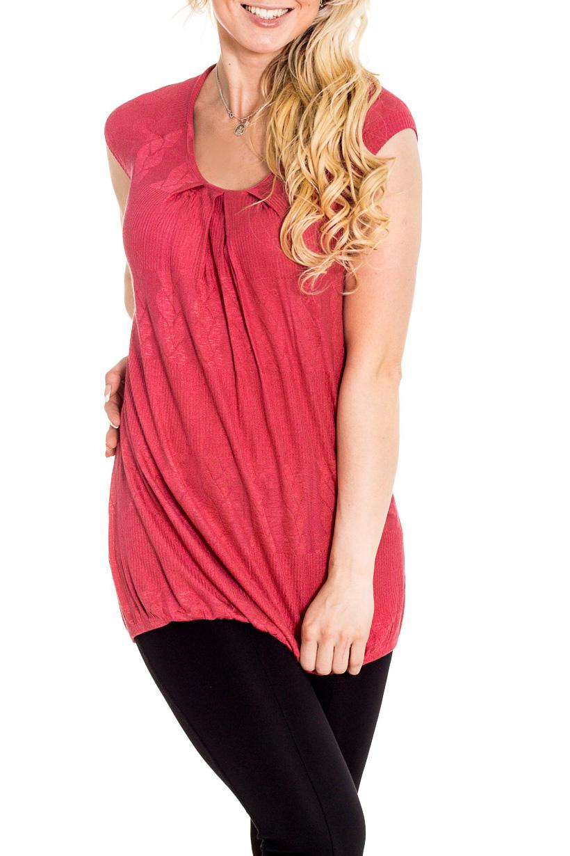 БлузкаБлузки<br>Удлиненная блузка с короткими рукавами. Модель выполнена из приятного материала. Отличный выбор для повседневного гардероба.  Цвет: коралловый  Рост девушки-фотомодели 170 см.<br><br>Горловина: С- горловина<br>По материалу: Вискоза<br>По рисунку: Однотонные<br>По сезону: Весна,Зима,Лето,Осень,Всесезон<br>По силуэту: Полуприталенные<br>По стилю: Повседневный стиль<br>По элементам: Со складками<br>Рукав: Короткий рукав<br>Размер : 44<br>Материал: Вискоза<br>Количество в наличии: 1