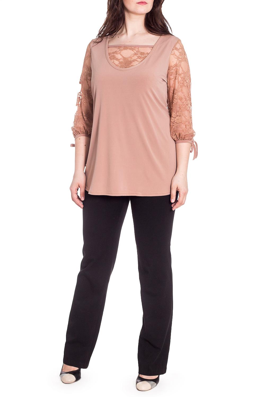 БлузкаБлузки<br>Однотонная блузка с имитацией блузки и майки. Модель выполнена из гладкого трикотажа и гипюра. Отличный выбор для любого торжества.В изделии использованы цвета: бежевыйРост девушки-фотомодели 180 см<br><br>Горловина: Квадратная горловина<br>Рукав: Рукав три четверти<br>Материал: Гипюр,Трикотаж<br>Рисунок: Однотонные<br>Сезон: Весна,Всесезон,Зима,Лето,Осень<br>Силуэт: Полуприталенные<br>Стиль: Нарядный стиль<br>Элементы: С декором<br>Размер : 54,56,58,60,62,64<br>Материал: Холодное масло + Гипюр<br>Количество в наличии: 6