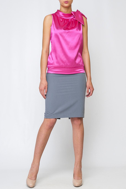 БлузкаБлузки<br>Стильная женская блуза, из шифона. По низу изделия втачной пояс, на плече бант, который будет ярким акцентом.   Параметры изделия:  42 размер: полуобхват по линии груди - 50см, полуобхват по линии бедра - 46см, длина изделия 59см;  52 размер: полуобхват по линии груди - 58см, полуобхват по линии бедра - 54см, длина изделия 61,5см.   Цвет: розовый  Рост девушки-фотомодели 175 см.<br><br>По материалу: Атлас<br>По рисунку: Однотонные<br>По сезону: Весна,Зима,Лето,Осень,Всесезон<br>По силуэту: Полуприталенные<br>По стилю: Нарядный стиль,Романтический стиль,Вечерний стиль,Летний стиль<br>Рукав: Без рукавов<br>Размер : 42,50,52<br>Материал: Атлас<br>Количество в наличии: 3