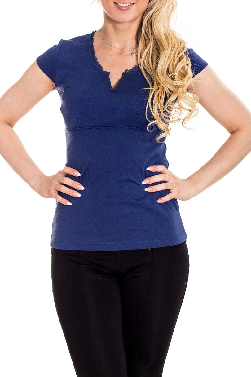 БлузкаБлузки<br>Красивая блузка с короткими рукавами. Модель выполнена из приятного материала. Отличный выбор для повседневного гардероба.  Цвет: синий  Рост девушки-фотомодели 170 см.<br><br>Горловина: V- горловина<br>По материалу: Вискоза<br>По рисунку: Однотонные<br>По сезону: Весна,Зима,Лето,Осень,Всесезон<br>По силуэту: Полуприталенные<br>По стилю: Повседневный стиль<br>По элементам: С декором<br>Рукав: Короткий рукав<br>Размер : 44,46<br>Материал: Вискоза<br>Количество в наличии: 2