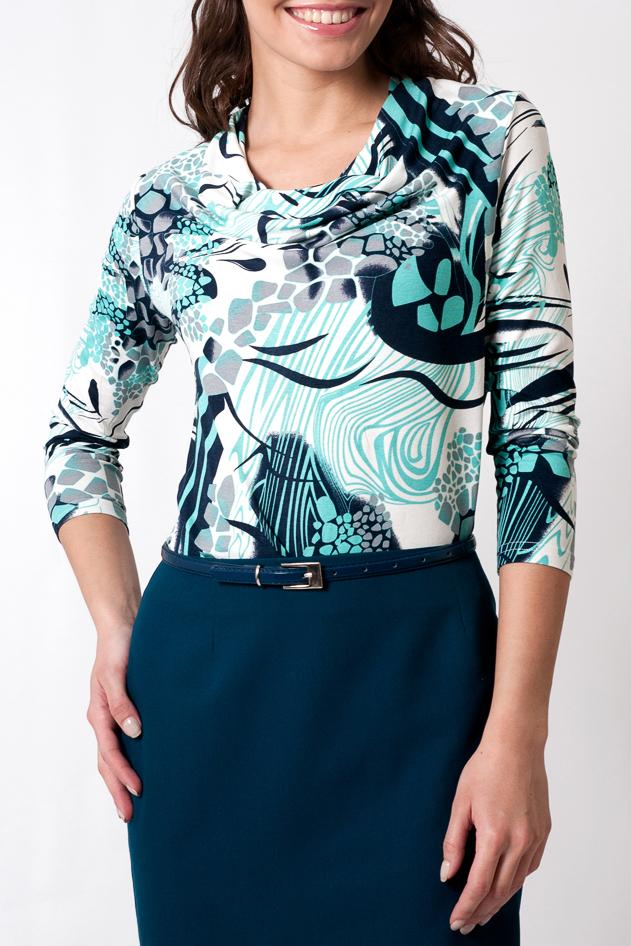 БлузкаБлузки<br>Прекрасная блузка с рукавами 3/4. Модель выполнена из приятного материала. Отличный выбор для любого случая.  Параметры изделия:  44 размер: обхват по линии бедер - 94 см, длина по спинке 60 - см, длина рукава - 49 см; 52 размер: обхват по линии бедер - 110 см, длина по спинке 64 - см, длина рукава - 49 см  Цвет: белый, бирюзовый, синий<br><br>Горловина: Качель<br>По материалу: Вискоза,Трикотаж<br>По рисунку: Абстракция,Цветные,С принтом<br>По сезону: Весна,Зима,Лето,Осень,Всесезон<br>По силуэту: Приталенные<br>По стилю: Повседневный стиль<br>Рукав: Рукав три четверти<br>Размер : 56,58,60<br>Материал: Вискоза<br>Количество в наличии: 3