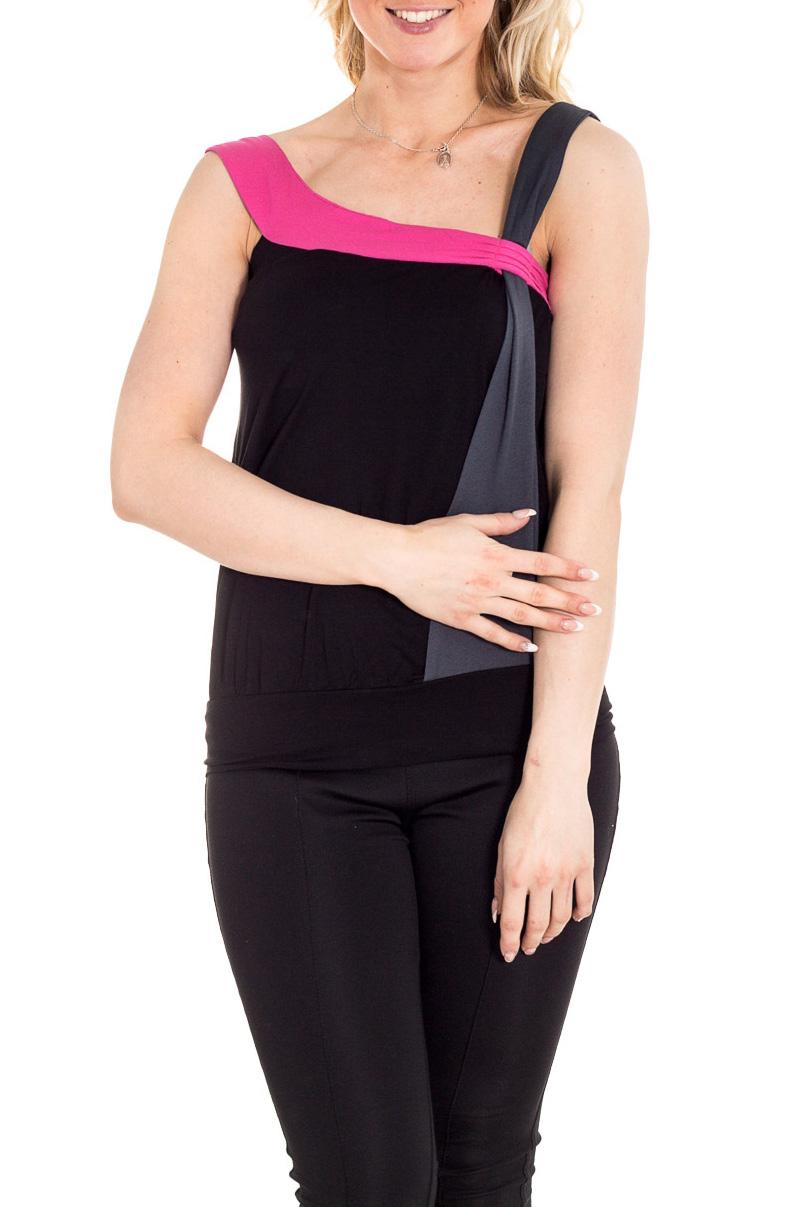 БлузкаБлузки<br>Красивая блузка без рукавов. Модель выполнена из приятного материала. Отличный выбор для повседневного гардероба.  Цвет: черный, серый, розовый  Рост девушки-фотомодели 170 см.<br><br>По материалу: Вискоза<br>По рисунку: С принтом,Цветные<br>По сезону: Весна,Зима,Лето,Осень,Всесезон<br>По силуэту: Полуприталенные<br>По стилю: Повседневный стиль<br>По элементам: С открытой спиной<br>Рукав: Без рукавов<br>Горловина: Фигурная горловина<br>Размер : 42,48<br>Материал: Вискоза<br>Количество в наличии: 2