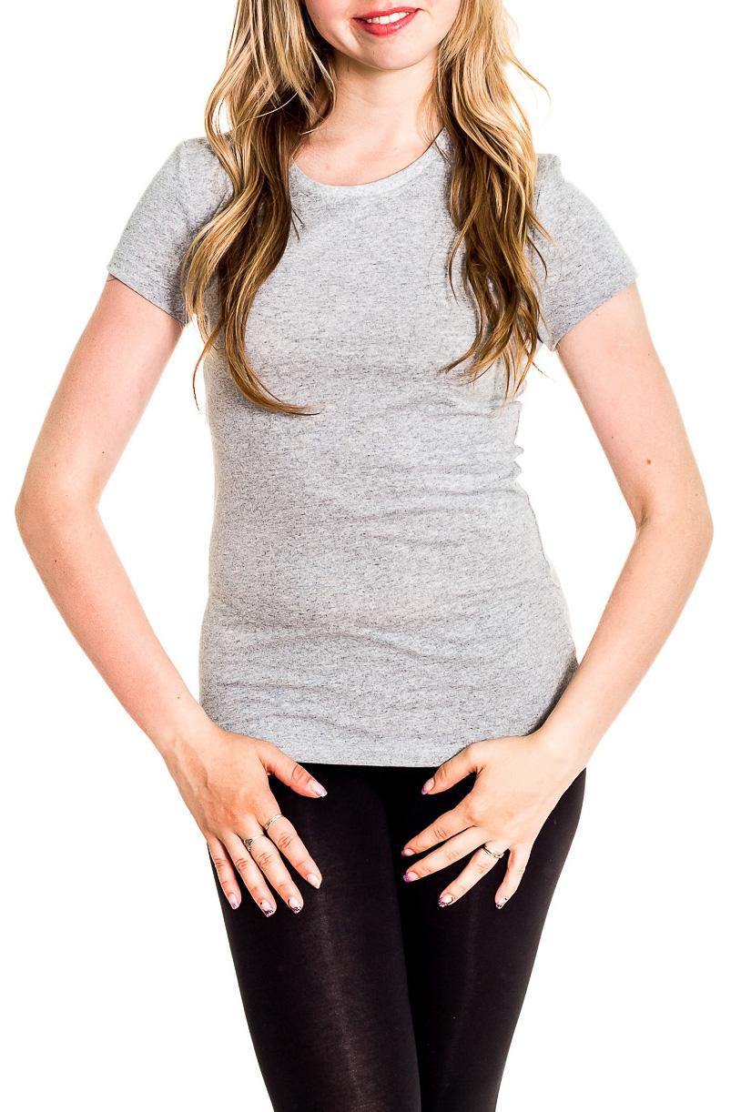 ФутболкаФутболки<br>Однотонная футболка с круглой горловиной и короткими рукавами. Модель выполнена из хлопкового материала. Отличный выбор для базового гардероба.  Цвет: серый  Рост девушки-фотомодели 170 см<br><br>Горловина: С- горловина<br>По материалу: Трикотаж,Хлопок<br>По рисунку: Однотонные<br>По сезону: Весна,Зима,Лето,Осень,Всесезон<br>По силуэту: Приталенные<br>По стилю: Повседневный стиль,Спортивный стиль<br>Рукав: Короткий рукав<br>Размер : 42,44<br>Материал: Хлопок<br>Количество в наличии: 2