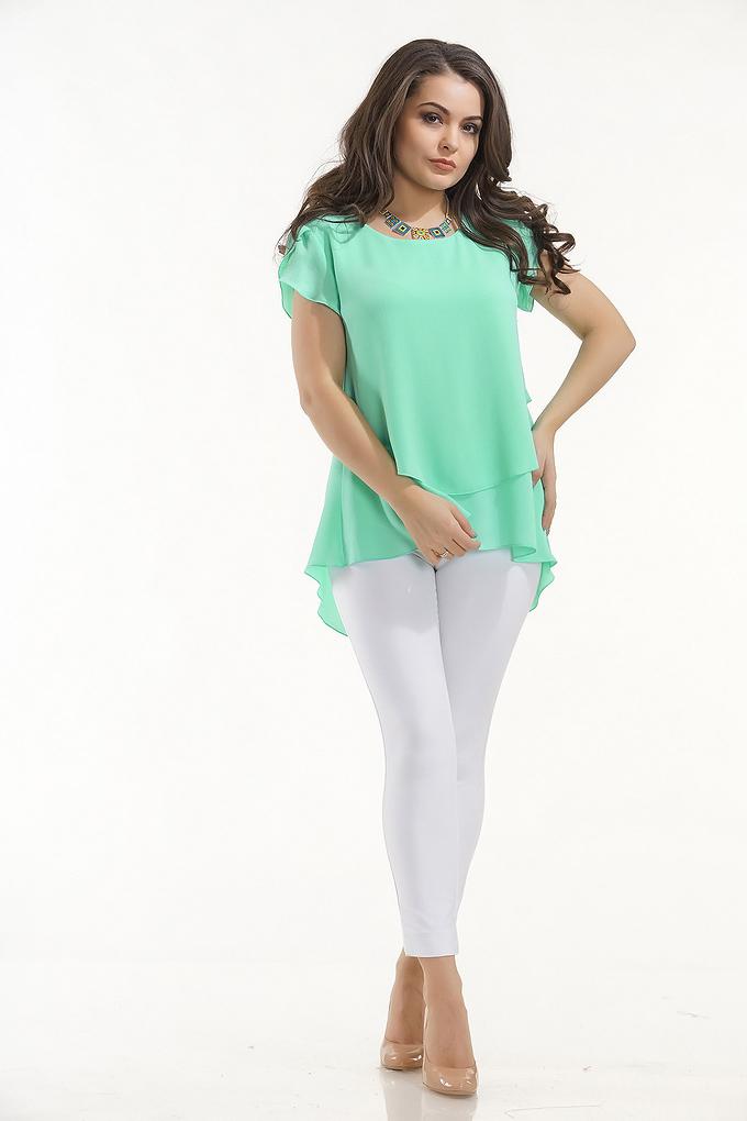 Блузка юбка oodji collection цвет ментоловый 21601254 2 42824 6500n размер 42 170 48 170