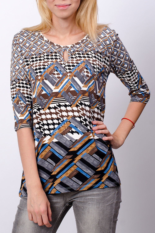 Блуза - туника блуза incity цвет черный белый