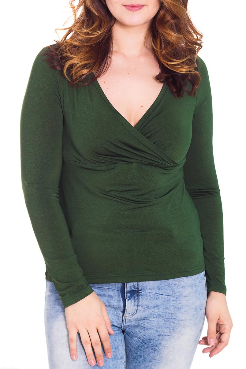 БлузкаБлузки<br>Женственная женская блузка из приятной к телу вискозы. Горловина V-образная на запах. Рукава длинные. Цвет: зеленый  Рост девушки-фотомодели 180 см<br><br>Горловина: V- горловина,Запах<br>По материалу: Вискоза,Трикотаж<br>По образу: Город,Свидание<br>По рисунку: Однотонные<br>По сезону: Весна,Всесезон,Зима,Осень<br>По силуэту: Приталенные<br>По стилю: Повседневный стиль<br>По элементам: С вырезом,Со складками<br>Рукав: Длинный рукав<br>Размер : 50<br>Материал: Вискоза<br>Количество в наличии: 1