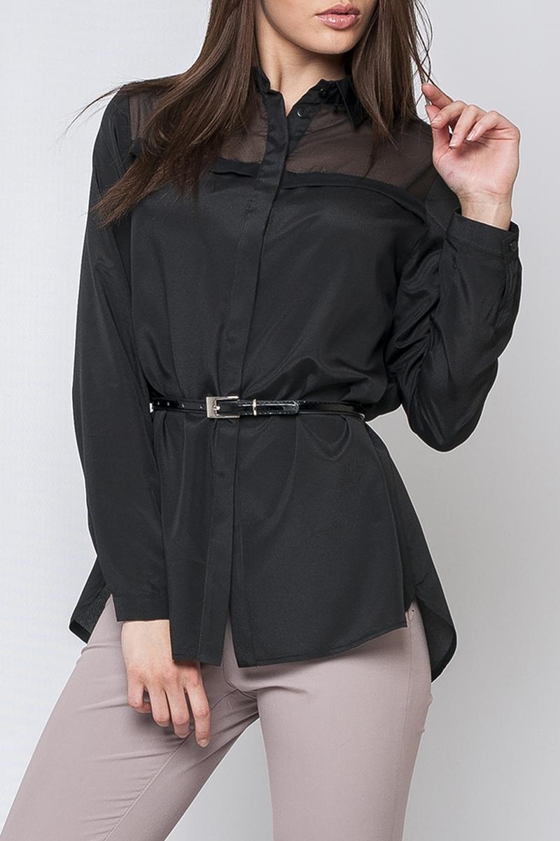 БлузкаБлузки<br>Изысканная блуза с длинными рукавами. Отличный выбор для любого случая.  Параметры размеров: 44 размер: обхват по линии груди 104 см, обхват по линии бедер 107 см, длина изделия - 75 см, длина рукава - 58,5 см;  52 размер: обхват по линии груди 120 см, обхват по линии бедер 123 см, длина изделия - 78 см, длина рукава - 59,5 см  Цвет: черный  Рост девушки-фотомодели 170 см<br><br>Воротник: Рубашечный<br>Застежка: С пуговицами<br>По материалу: Шелк<br>По рисунку: Однотонные<br>По сезону: Весна,Зима,Лето,Осень,Всесезон<br>По силуэту: Полуприталенные<br>По стилю: Повседневный стиль<br>Рукав: Длинный рукав<br>Размер : 44,48,50<br>Материал: Искусственный шелк<br>Количество в наличии: 3