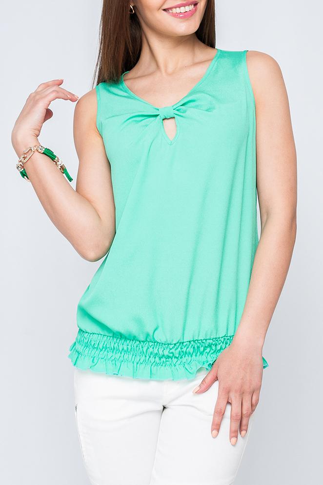 БлузаБлузки<br>Элегантная женская блузка, выполненая из приятного материала. Подойдет как для повседневного, так и романтического стиля.  Параметры изделия:  44 размер: обхват по линии груди - 94см, длина по спинке - 62см;  48 размер: обхват по линии груди - 100см, длина по спинке - 63см.  Цвет: бирюзовый  Рост девушки-фотомодели 170 см<br><br>Горловина: С- горловина<br>По материалу: Тканевые<br>По рисунку: Однотонные<br>По сезону: Весна,Зима,Лето,Осень,Всесезон<br>По силуэту: Полуприталенные<br>По стилю: Повседневный стиль,Летний стиль<br>По элементам: Со складками,С декором<br>Рукав: Без рукавов<br>Размер : 42,44,52<br>Материал: Блузочная ткань<br>Количество в наличии: 3