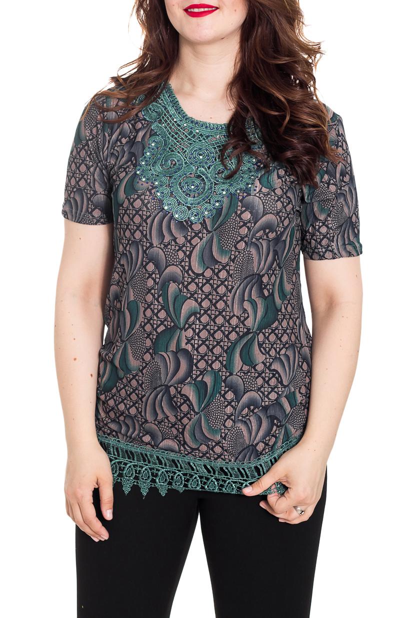 БлузкаБлузки<br>Замечательная женская блузка из приятной к телу блузочной ткани. Данная модель - это универсальный предмет одежды, в котором можно пойти как на прогулку, так и на свидание.  Цвет: серый, темно-бирюзовый и др.  Рост девушки-фотомодели 180 см<br><br>Горловина: С- горловина<br>По материалу: Блузочная ткань<br>По образу: Город,Свидание<br>По рисунку: Абстракция,Растительные мотивы,С принтом,Цветные,Этнические<br>По сезону: Весна,Зима,Лето,Осень,Всесезон<br>По силуэту: Полуприталенные,Приталенные<br>По стилю: Кэжуал,Повседневный стиль,Романтический стиль<br>По элементам: С декором,С фигурным низом<br>Рукав: Короткий рукав<br>Размер : 50<br>Материал: Блузочная ткань<br>Количество в наличии: 1