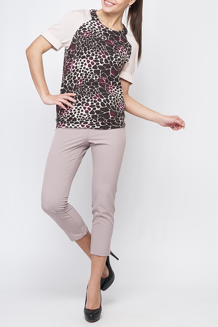 ДжемперБлузки<br>Стильный женский джемпер, контрастное сочетание рукавов и основного цвета блузки будет смотреться оригинально. Джемпер будет отлично сочетаться как с юбкой так и с брюками.  Параметры изделия: 44 размер: обхват по линии бедер - 99,5 см, длина по спинке - 65,5 см;  50 размер: обхват по линии бедер - 112,5 см, длина по спинке 68,5 - см.  В изделии использованы цвета: розовый, коричневый и др.  Рост девушки-фотомодели 170 см<br><br>Горловина: С- горловина<br>По материалу: Трикотаж<br>По рисунку: С принтом,Цветные<br>По сезону: Весна,Зима,Лето,Осень,Всесезон<br>По силуэту: Прямые<br>По стилю: Повседневный стиль<br>По элементам: С манжетами<br>Рукав: До локтя<br>Размер : 42,44,46,48,50,52<br>Материал: Трикотаж<br>Количество в наличии: 6