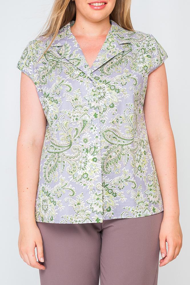 БлузкаБлузки<br>Женская блуза свободного пошива, по переду изделия пуговички, отложной воротник. Блуза идеально подойдет для работы в офисе.  Параметры изделия:  44 размер: обхват по линии груди - 100 см, обхват по линии бедер - 103 см, длина по спинке - 63 см, длина рукава - 9,5 см;  52 размер: обхват по линии груди - 116 см, обхват по линии бедер - 119 см, длина по спинке - 65 см, длина рукава - 9,5 см  Цвет: серый, зеленый  Рост девушки-фотомодели 175 см<br><br>Воротник: Отложной<br>Горловина: V- горловина<br>Застежка: С пуговицами<br>По материалу: Хлопок<br>По рисунку: С принтом,Цветные,Этнические<br>По сезону: Весна,Зима,Лето,Осень,Всесезон<br>По силуэту: Полуприталенные<br>По стилю: Повседневный стиль,Летний стиль<br>Рукав: Короткий рукав<br>Размер : 52,56<br>Материал: Хлопок<br>Количество в наличии: 2