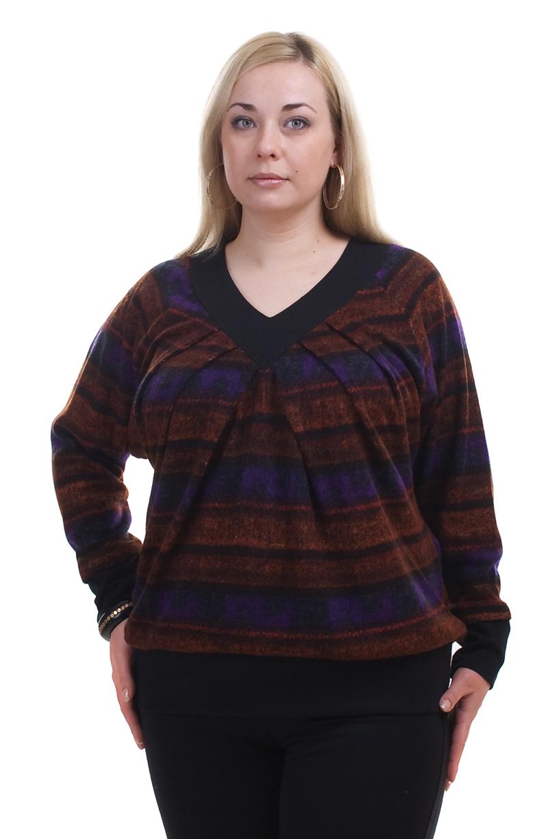 ПуловерПуловеры<br>Удобный женский пуловер с длинными рукавами. Модель свободного силуэта, выполнена из мягкого трикотажа. Отличный выбор для повседневного гардероба.  Цвет: черный, красный, сиреневый  Рост девушки-фотомодели 173 см<br><br>По образу: Город<br>По рисунку: В полоску,Цветные<br>По сезону: Весна,Осень<br>Рукав: Длинный рукав<br>Горловина: V- горловина<br>По материалу: Трикотаж,Хлопок<br>По стилю: Повседневный стиль<br>Размер : 56-58,60-62,64-66<br>Материал: Трикотаж<br>Количество в наличии: 1