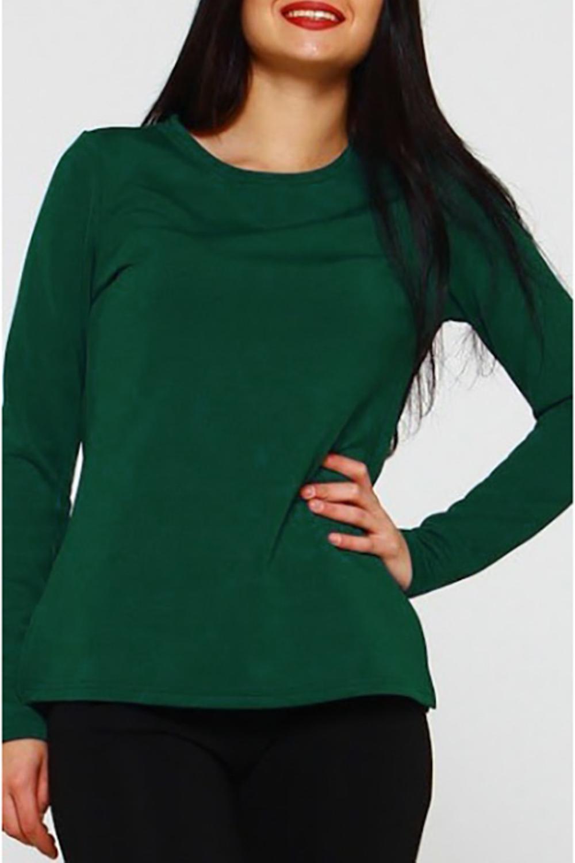 БлузкаБлузки<br>Блуза из плотного трикотажного полотна прямого силуэта с небольшими разрезами по бокам, рукав втачной, длинный.   Идеальный выбор для повседневной носки, и по особому случаю. Эффектная модель подчеркивает лёгкость, женственность и романтичность своей обладательницы    Длина изделия от 59 см до 62 см , в зависимости от размера.  В изделии использованы цвета: зеленый  Рост девушки-фотомодели 170 см.<br><br>Горловина: С- горловина<br>По материалу: Трикотаж<br>По рисунку: Однотонные<br>По сезону: Весна,Зима,Лето,Осень,Всесезон<br>По силуэту: Прямые<br>По стилю: Кэжуал,Офисный стиль,Повседневный стиль<br>Рукав: Длинный рукав<br>Размер : 46,48<br>Материал: Трикотаж<br>Количество в наличии: 2
