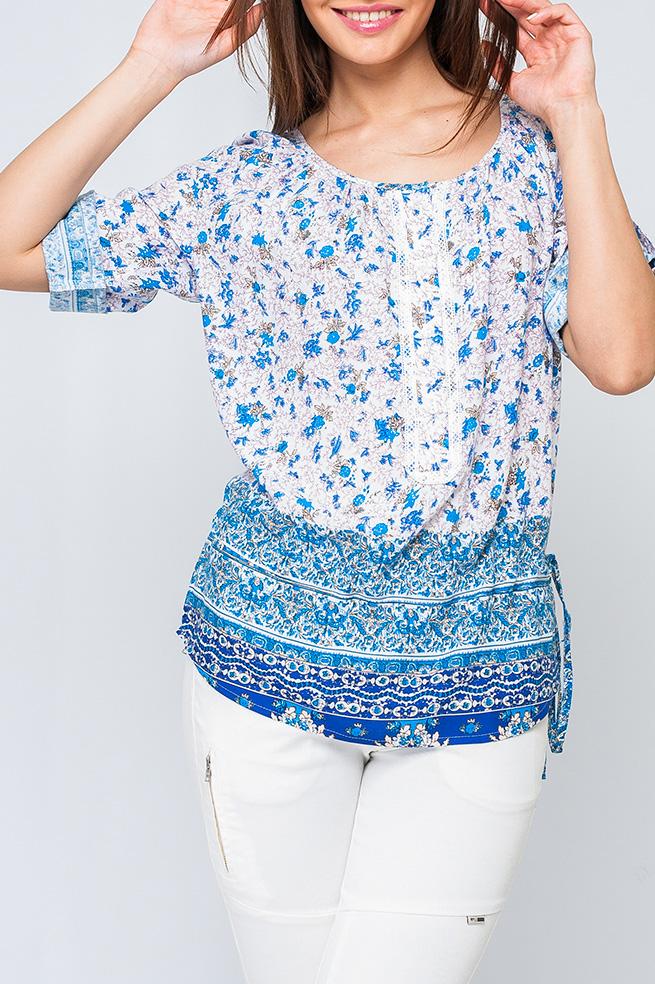 БлузкаБлузки<br>Стильная женская рубашка, по грудке украшено пуговичками, рукава регулируются застежками, позволяя укоротить или опустить, по линии бедер поясок, с помощью которого можно утянуть изделие.   Параметры изделия:  48 размер: обхват по линии груди - 120 см, обхват по линии бедер - 113 см, длина по спинке - 71,5 см;  60 размер: обхват по линии груди - 144 см, обхват по линии бедер - 137 см, длина по спинке - 76 см; рукава 3/4  Цвет: белый, голубой, синий  Рост девушки-фотомодели 170 см<br><br>Горловина: С- горловина<br>По материалу: Хлопок<br>По рисунку: С принтом,Цветные<br>По сезону: Весна,Зима,Лето,Осень,Всесезон<br>По силуэту: Прямые<br>По стилю: Повседневный стиль<br>По элементам: С декором,С патами<br>Рукав: Рукав три четверти<br>Размер : 42,58<br>Материал: Хлопок<br>Количество в наличии: 2